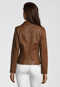 7eleven - AGNES - Leather jacket - brown - 1