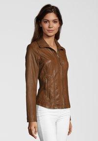 7eleven - AGNES - Leather jacket - brown - 2