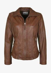 7eleven - AGNES - Leather jacket - brown - 4
