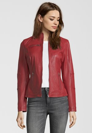 SUSAN - Leather jacket - red