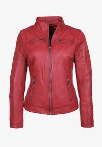 7eleven - SUSAN - Leather jacket - red - 4