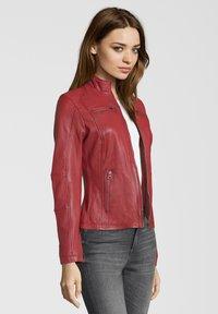 7eleven - SUSAN - Leather jacket - red - 2