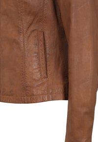 7eleven - LIONA - Leather jacket - cognac - 4