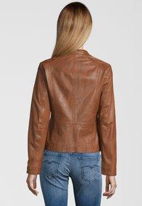 7eleven - LIONA - Leather jacket - cognac - 1