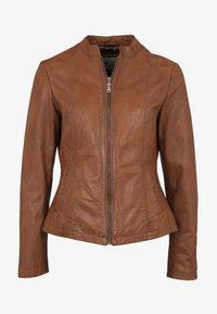 7eleven - LIONA - Leather jacket - cognac - 3