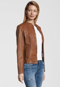 7eleven - LIONA - Leather jacket - cognac - 2