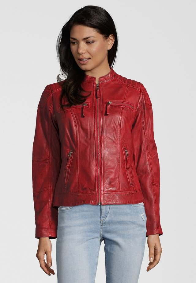 BASTIA - Leather jacket - rot