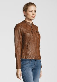 7eleven - BASTIA - Leather jacket - cognac - 2
