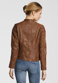 7eleven - BASTIA - Leather jacket - cognac - 1