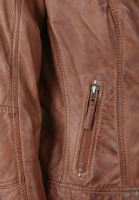 7eleven - BASTIA - Leather jacket - cognac - 3