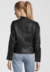 7eleven - BASTIA - Leather jacket - schwarz - 1