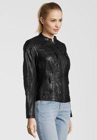 7eleven - BASTIA - Leather jacket - schwarz - 2