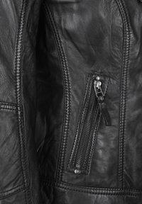 7eleven - BASTIA - Leather jacket - schwarz - 3