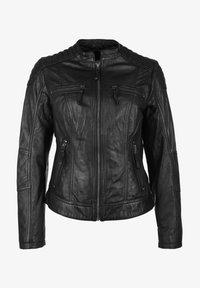 7eleven - BASTIA - Leather jacket - schwarz - 4