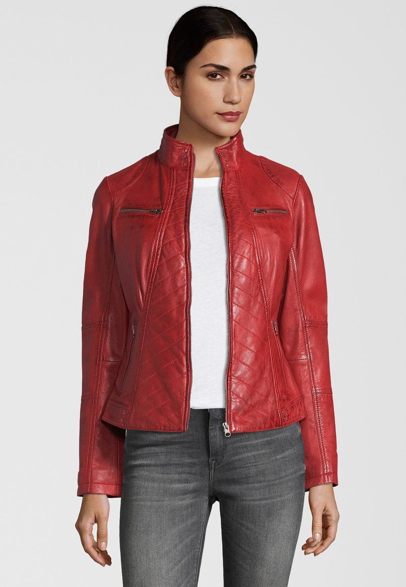 7eleven - RENATE - Leather jacket - rot