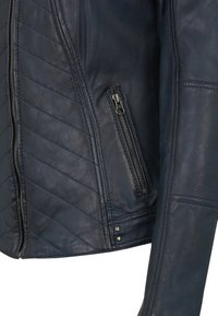 7eleven - RENATE - Leather jacket - navy - 4