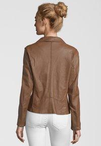 7eleven - ARONA - Leather jacket - cognac - 1
