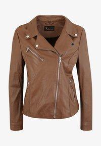 7eleven - ARONA - Leather jacket - cognac - 3