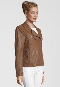 7eleven - ARONA - Leather jacket - cognac - 2