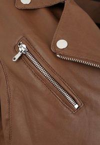 7eleven - ARONA - Leather jacket - cognac - 4
