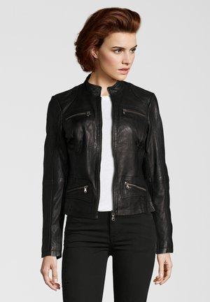 KATRIN - Leather jacket - black