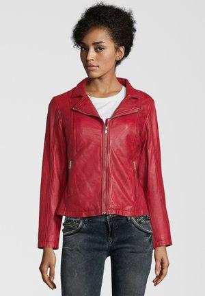 CYNTHIA - Leather jacket - rot