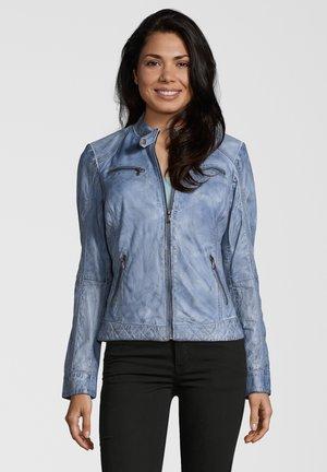 DIANA - Leather jacket - blau