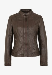 7eleven - URSEL - Leather jacket - dark brown - 3
