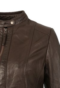 7eleven - URSEL - Leather jacket - dark brown - 4