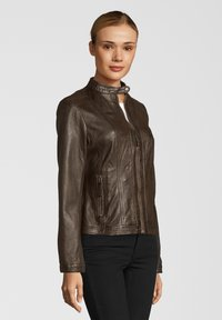 7eleven - URSEL - Leather jacket - dark brown - 2