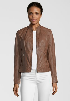 CONA - Leather jacket - cognac