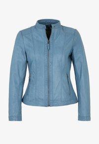 7eleven - RESI - Leather jacket - bleu - 4