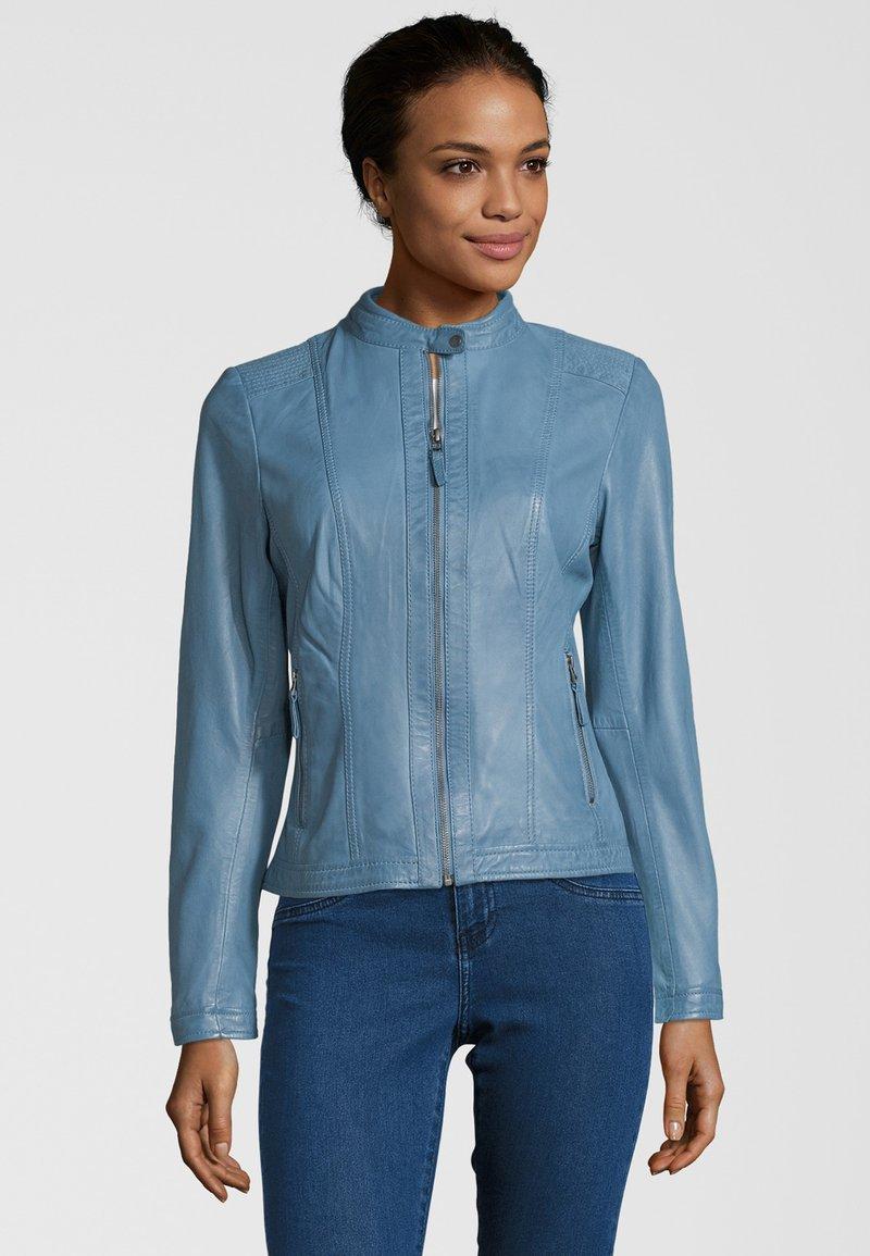 7eleven - RESI - Leather jacket - bleu