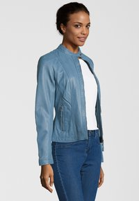 7eleven - RESI - Leather jacket - bleu - 2