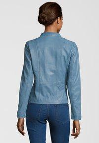 7eleven - RESI - Leather jacket - bleu - 1