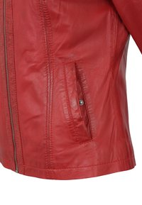 7eleven - Leather jacket - red - 4