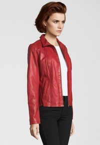 7eleven - Leather jacket - red - 2
