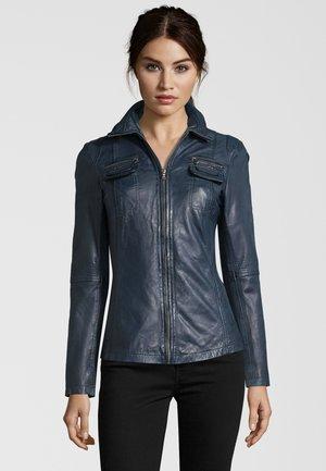 MESSINA  - Leather jacket - navy
