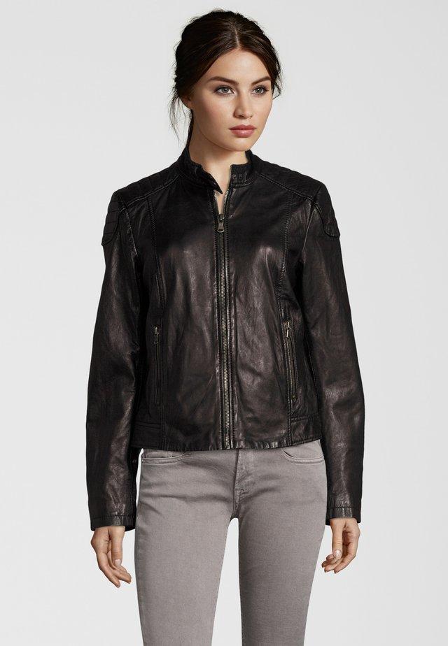 RAFFI - Leather jacket - black