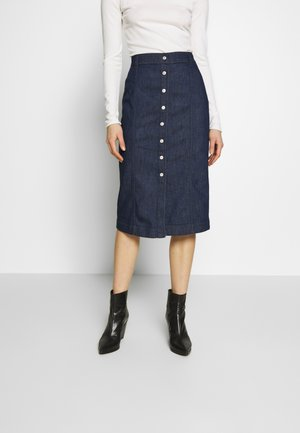 MIDI SKIRT - Kokerrok - dark blue