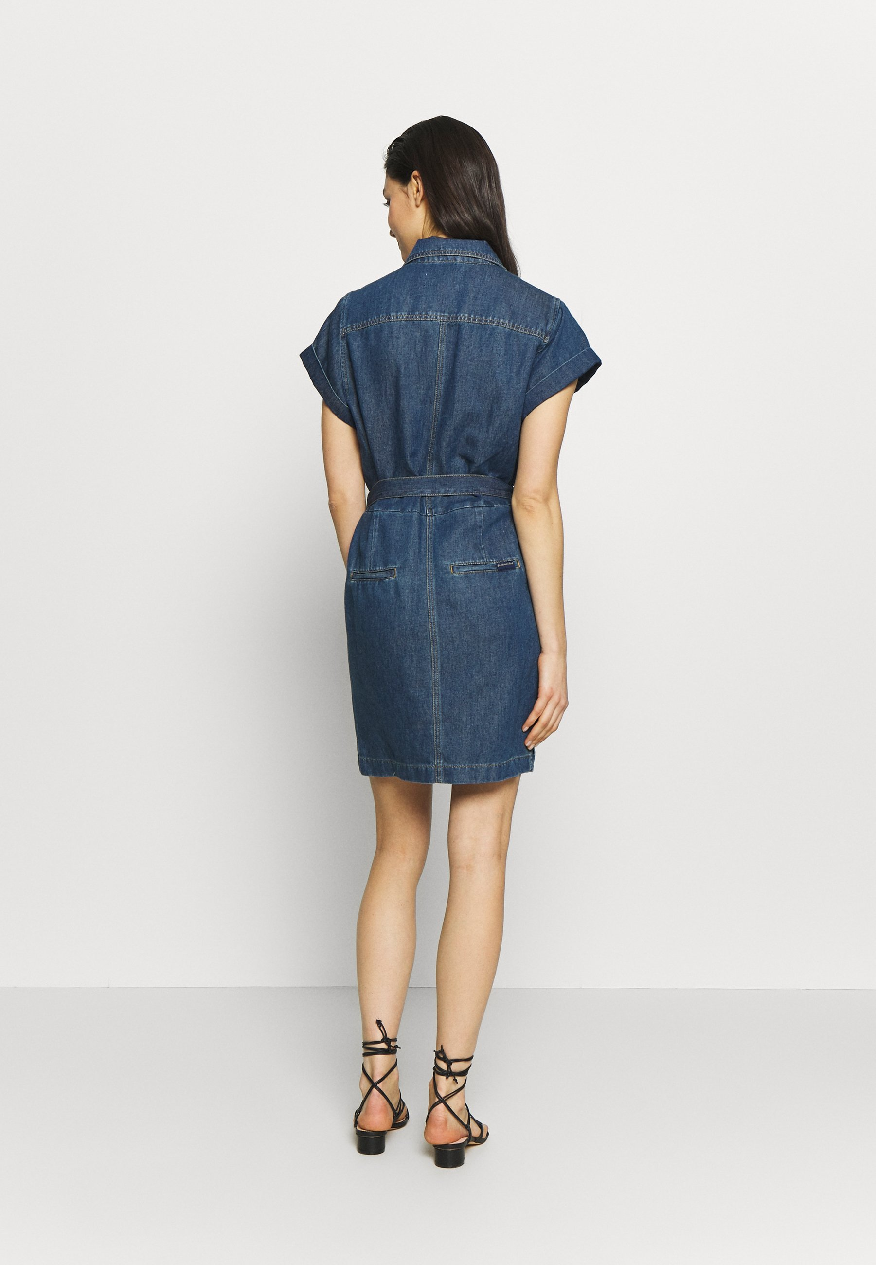 7 for all mankind UTILITY DRESS - Dongerikjole - mid blue