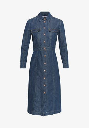 LUXE DRESS - Denim dress - mid blue