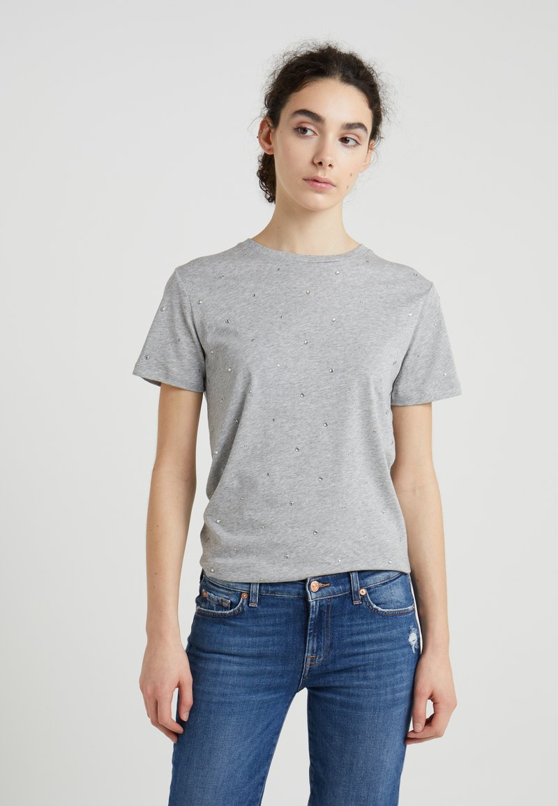 7 for all mankind - TEE - T-shirt med print - grey