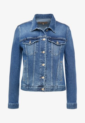 MODERN TRUCKER LUXE - Denim jacket - captiola mid indigo