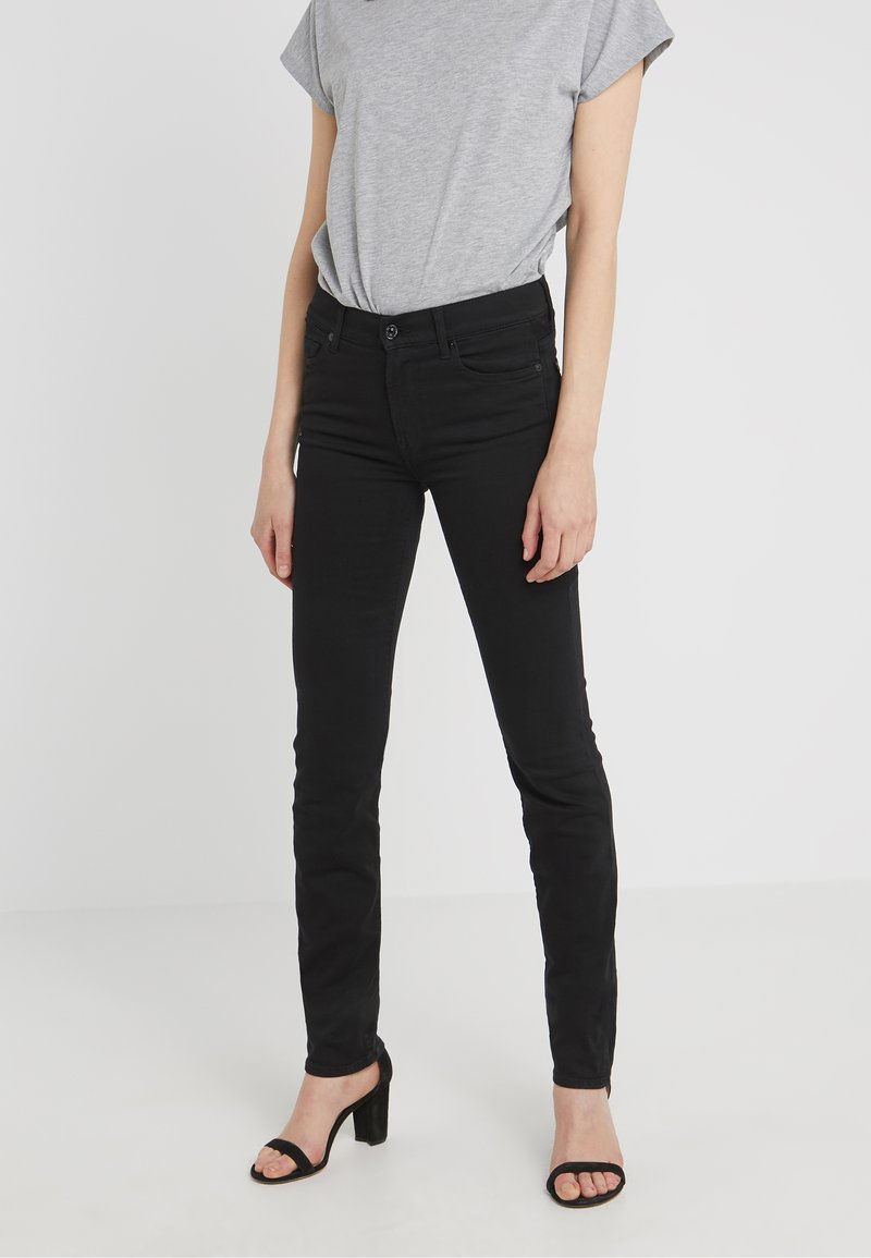 7 for all mankind - ROZIE - Jeans Skinny Fit - illuxion luxe rinsed black