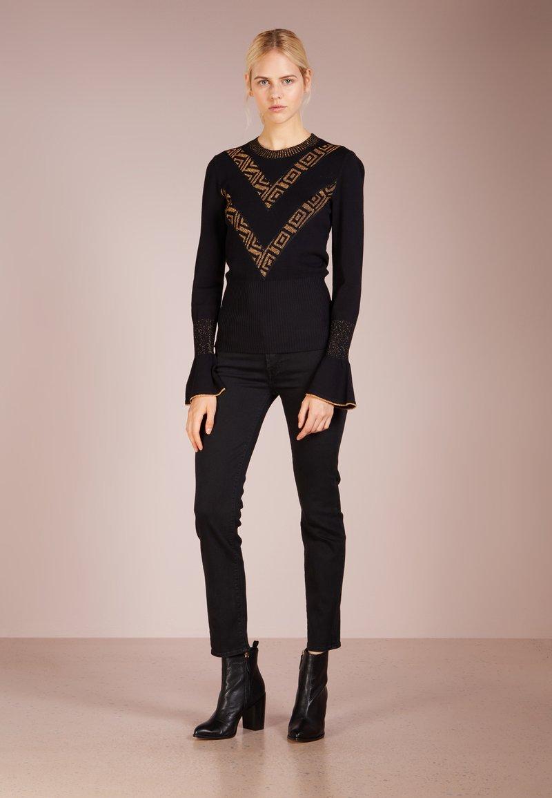 7 for all mankind ROXANNE - Jeans slim fit - bair rinsed black