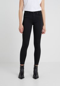 7 for all mankind - CROP - Jeans Skinny Fit - black - 0