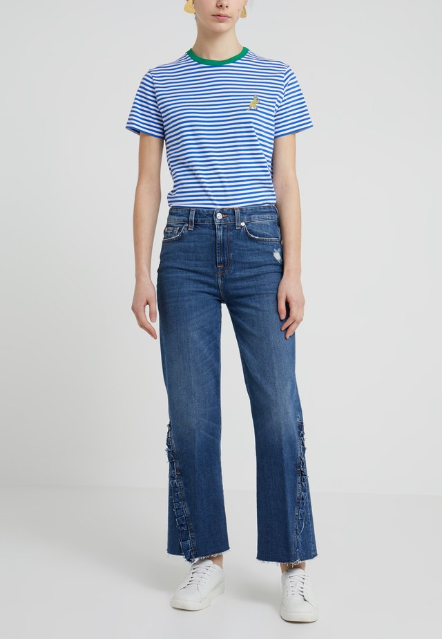 VINTAGE CROPPED RUFFLES - Bootcut jeans - vintage sycamore