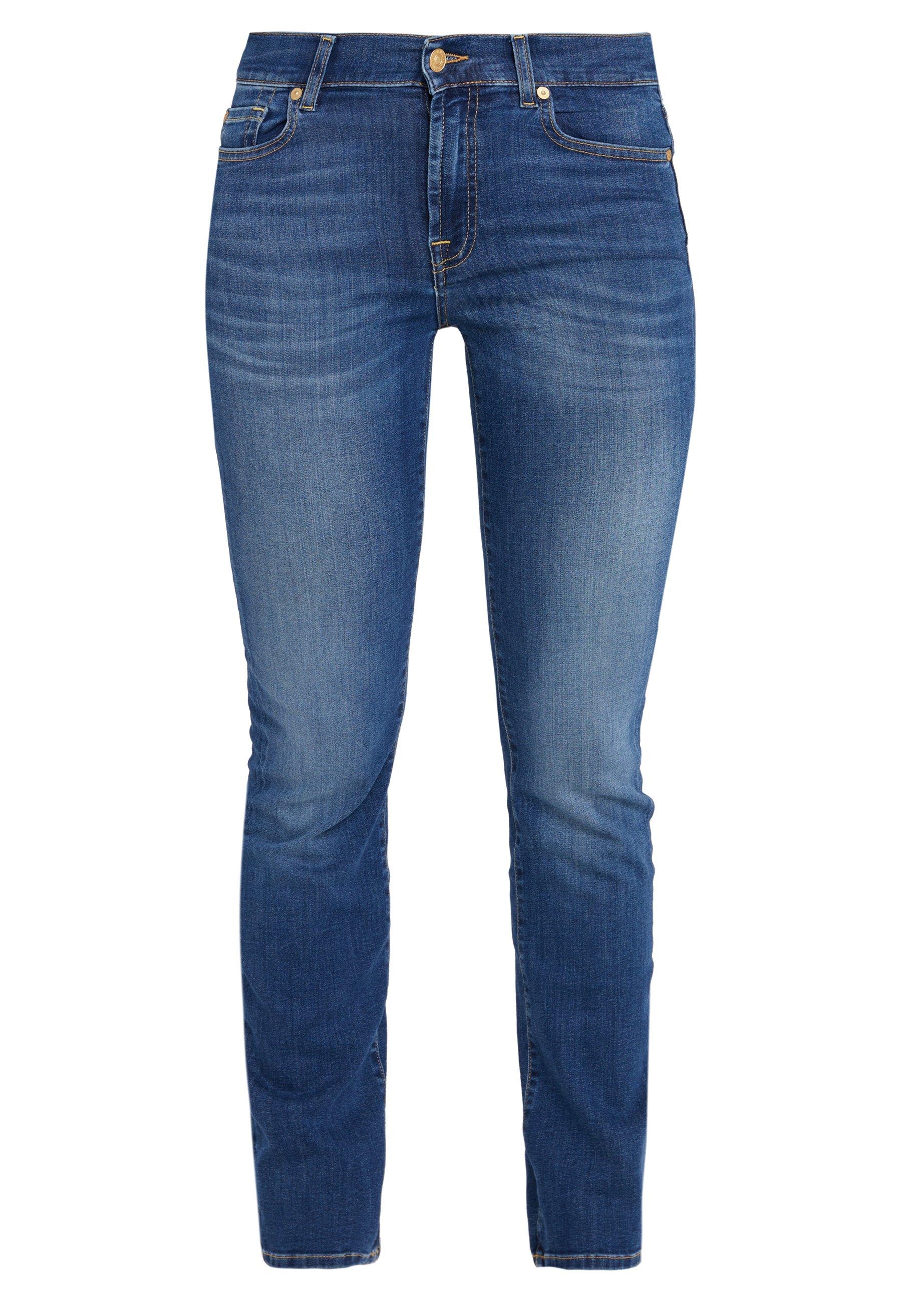 7 for all mankind BAIR DUCHESS - Jeansy Straight Leg - blue denim