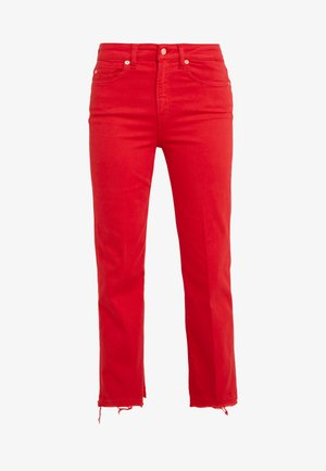 VINTAGE UNROLLED ILLUSION - Džíny Bootcut -  red
